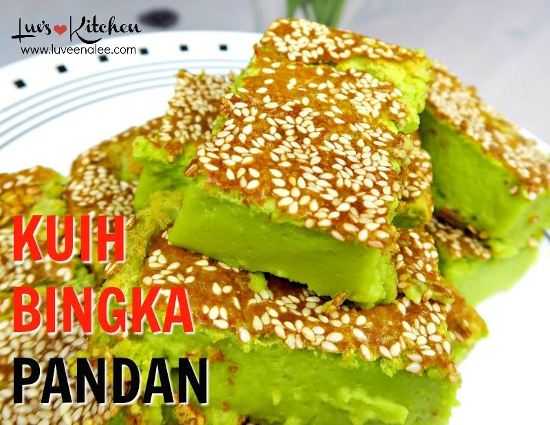 Kuih Bingka Pandan Kuih Bakar Pandan Malaysian Food