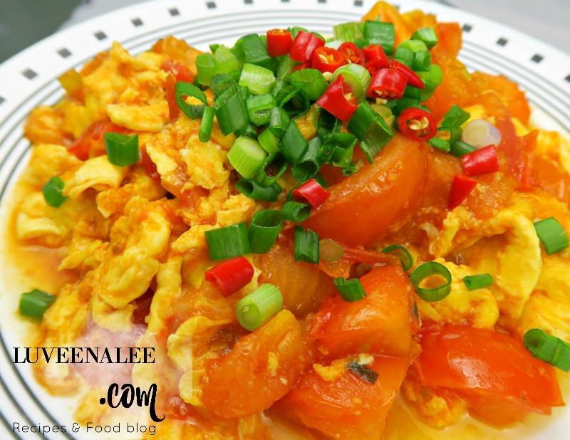 Stir Fried Tomato And Scrambled Eggs Chinese Tomatoes And Eggs 蕃茄炒蛋 Super Easy Recipe Luveena Lee