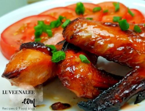 Air Fryer Chicken Wing Recipe | Air Fryer Chicken Wing With Char siu sauce |  Air fryer Chicken Wing – Super easy!