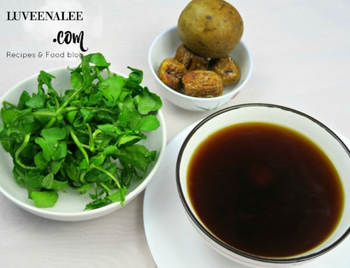 Watercress With Chinese Honey Dates Soup  |西洋菜汤 | 4 Ingredients Soup! Super easy!